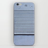 Concrete Stripe Blue iPhone & iPod Skin