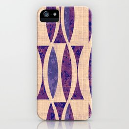 Seventies violet Pattern iPhone Case