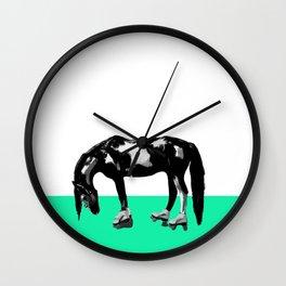 Funny Sad Skater Horse Wall Clock
