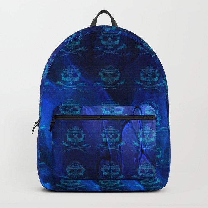 Bitter Poison Skulls: Ocean Backpack