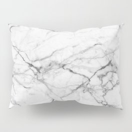 White Marble Stone Pillow Sham