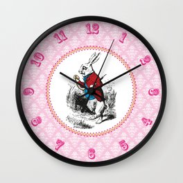 Alice in Wonderland | The White Rabbit checks the time Wall Clock