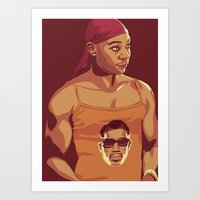 true blood Art Prints featuring True Blood - Lafayette/Blade by Mike Wrobel