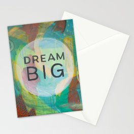 Dream Big Abstract Painting Stationery Cards