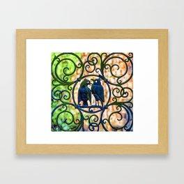 Bird Gate Framed Art Print