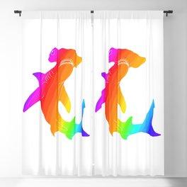 Rainbow hammerhead Blackout Curtain