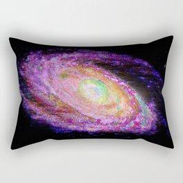 Glitch Galaxy Rectangular Pillow