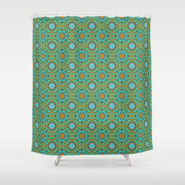 Moroccan Tile 1A - Blue Shower Curtain