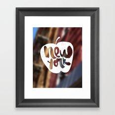 NY: The Big Apple Framed Art Print