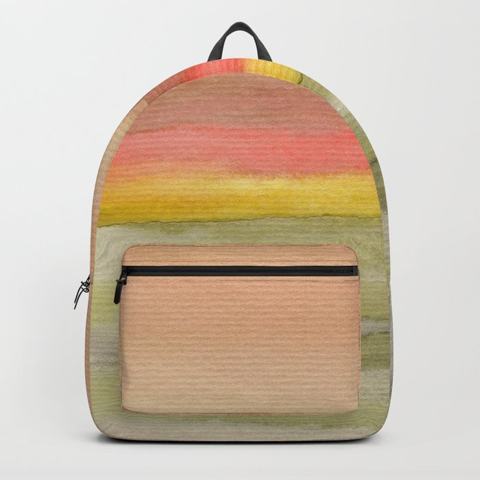 Watercolor abstract landscape 03 Backpack