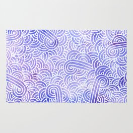 Lavender and white swirls doodles Rug