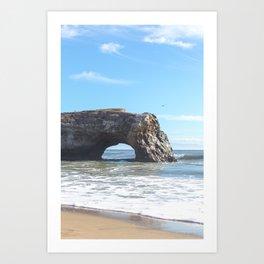 Santa Cruz Natural State Bridge Art Print