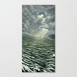 Sunbeams and Rolling Seas Canvas Print
