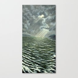 Sunbeams and Rolling Seas Canvas Print