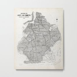 Map of Brooklyn Metal Print