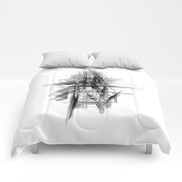 Architect & Engineer Working Together Comforters