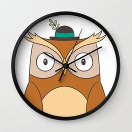 Cartoon Abstract Owl Wall Clock