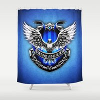 ravenclaw Shower Curtains featuring HARRY POTTER RAVENCLAW by Veylow