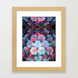 Graphic Atoms Framed Art Print