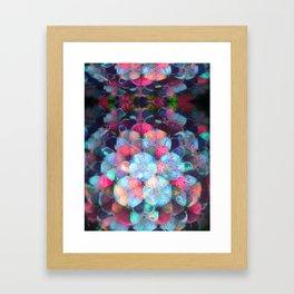 Graphic Atoms Framed Art Print