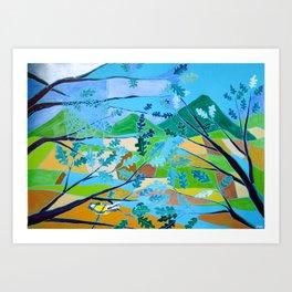 La Cinciallegra (The Yellow Passerine) Art Print