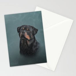 Drawing dog rottweiler 9 Stationery Cards