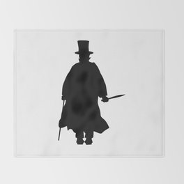 Jack the Ripper Silhouette Throw Blanket