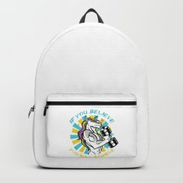 If you believe you will achieve, Unicorn Gym Gains Backpack