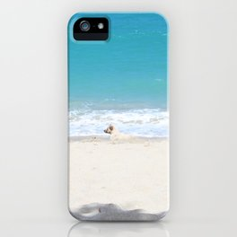 White on Blue iPhone Case