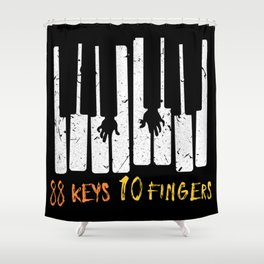 88 Keys 10 Fingers Beginner Piano Music & Piano notes & concertos Shower Curtain