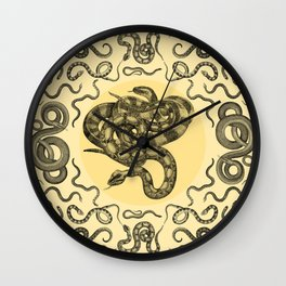 Snakes Pattern Wall Clock