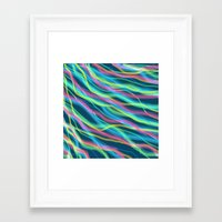 80s Framed Art Prints featuring 80s Ripple by Beth Thompson