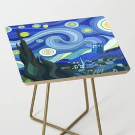 Tardis Art Starry Night Side Table