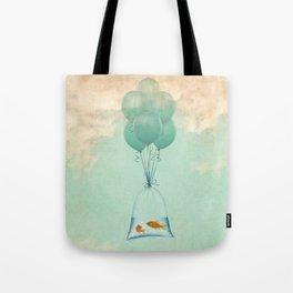 goldfish flight to freedom Tote Bag