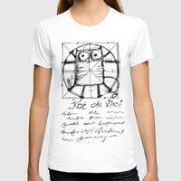 da vinci T-shirts featuring Kot da Vinci by Katja Main