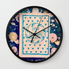 Sense and Sensibility Book Photo Wall Clock