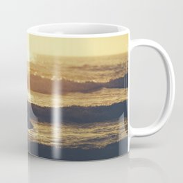 Sunset Surfer at Fistral Beach, Newquay, Cornwall Coffee Mug