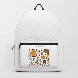 Fall Essentials Pencil Drawing Backpack