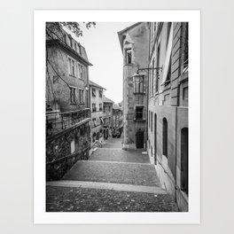 Old Town Geneva Art Print