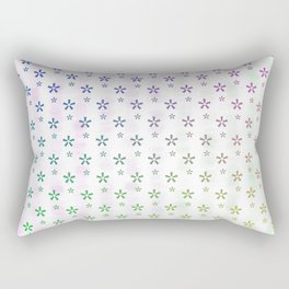Ombre asterisk star large snowflakes Rectangular Pillow