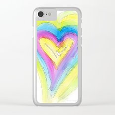 Spring Heart Clear iPhone Case