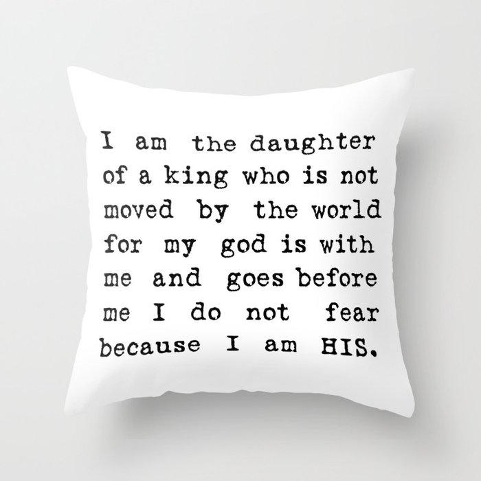 I Am His Throw Pillow