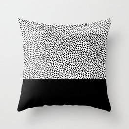 Dots and Black Throw Pillow