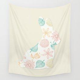 Playboy White Rabbit Flower Wall Tapestry