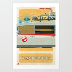 Ecto-1 from Ghostbusters part II of III Art Print