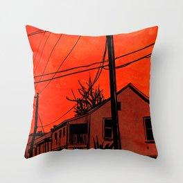 red sky 01 Throw Pillow