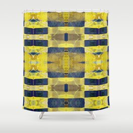 first sunrays_pattern_no2 Shower Curtain