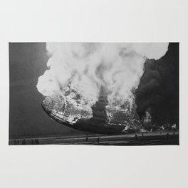Hindenburg in flames Rug
