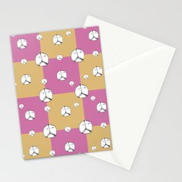Symbol Peace Drawing Checked Pattern Stationery Cards