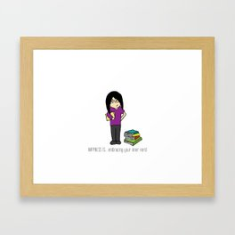 HAPPINESS IS... embracing your inner nerd Framed Art Print